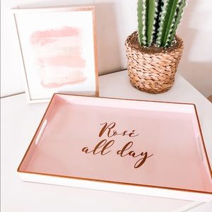 Rose All Day Pink and Gold Tray
